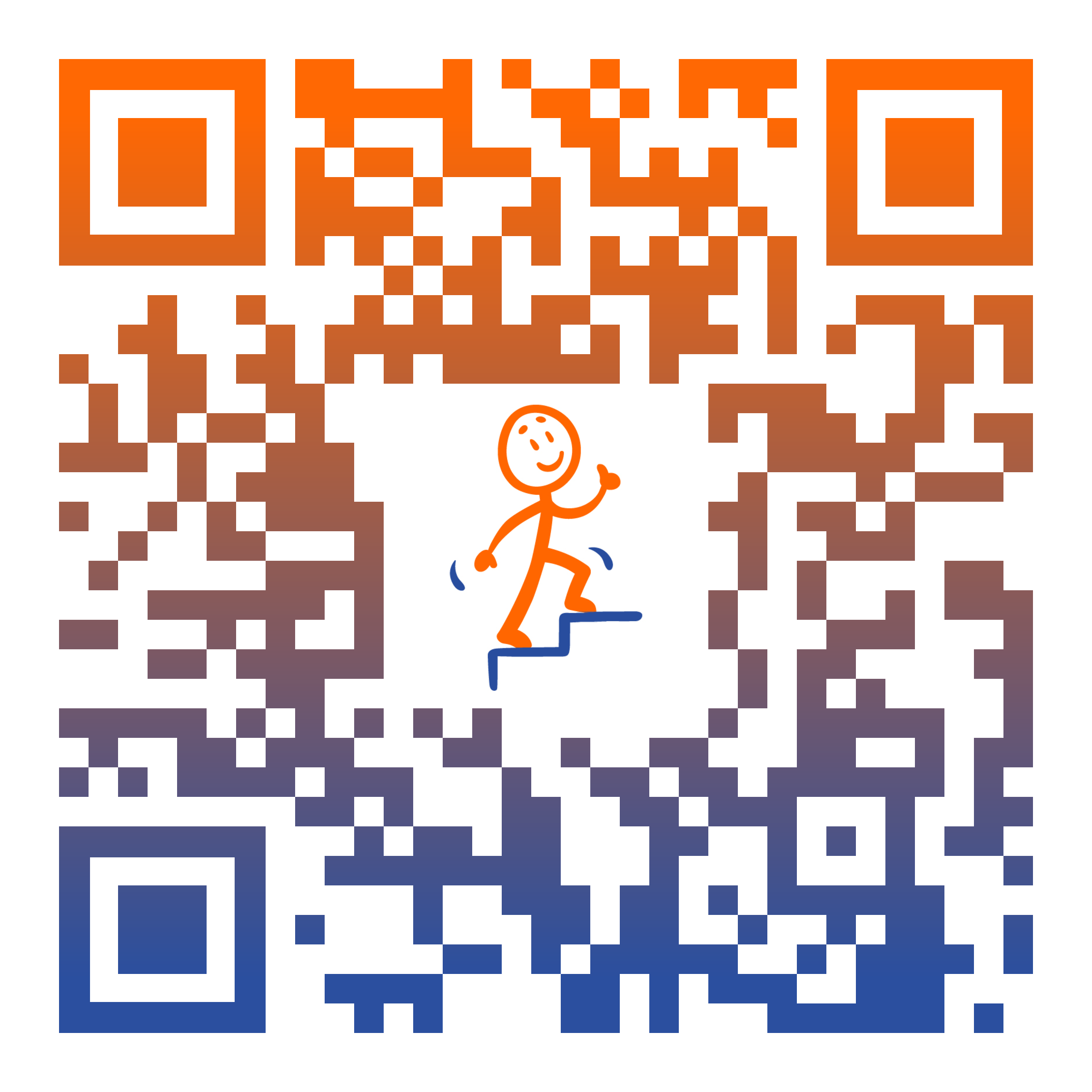 qr code simply upright
